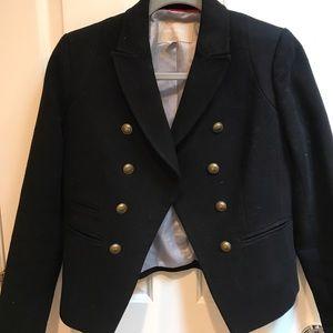 Banana Republic military style black wool jacket